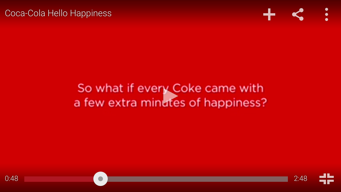 Hello Happiness Coke Ad
