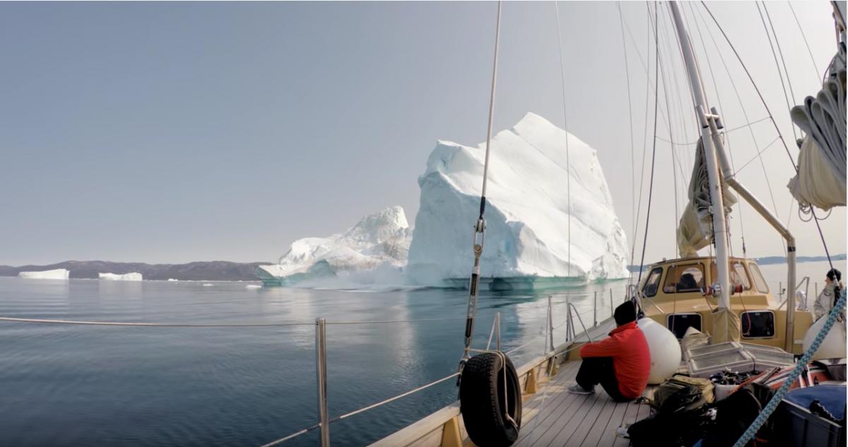 Greenland's Disko Bay iceberg caught on GoPro camera