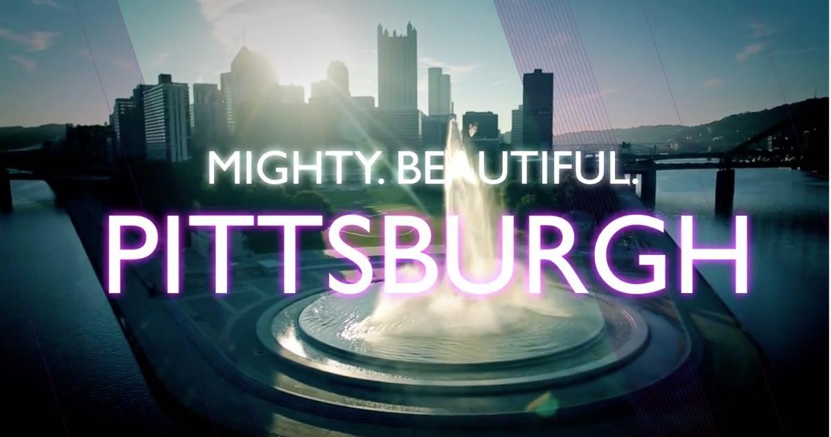 Mighty. Beautiful. Pittsburgh city skyline