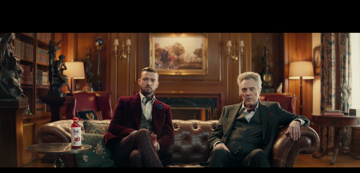 Christopher Walken and Justin Timberlake for Bai SuperBowl Ad